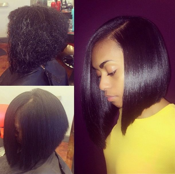 Silk Press Bob By @hairbychantellen - Where Do I Sign Up? - http://community.blackhairinformation.com/hairstyle-gallery/natural-hairstyles/silk-press-bob-by-hairbychantellen-where-do-i-sign-up/