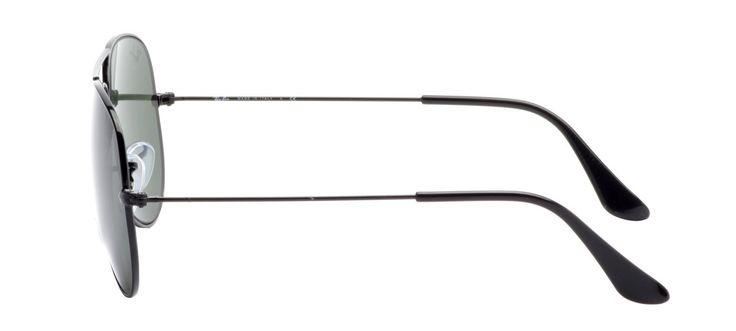 Ray-Ban Aviador Preto - Óculos Aviador Preto Fosco RB3025