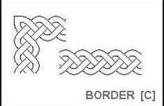 Continous celtic knot design. Make a stencil & paint a border around a room :)