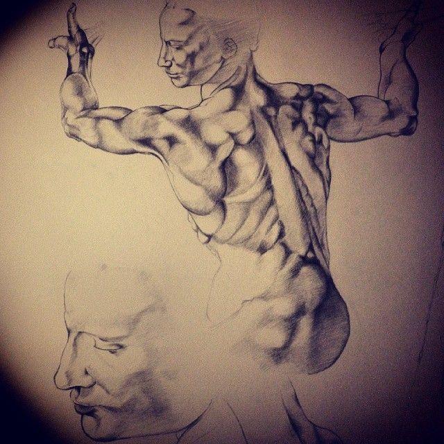 #SistineChapel #WallDrawing #Pencil #Michelangelo