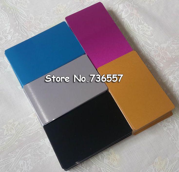 100 stücke Blank sublimation metall visitenkarte druck leeren business ID verwendung sublimation tinte und papier fünf farben