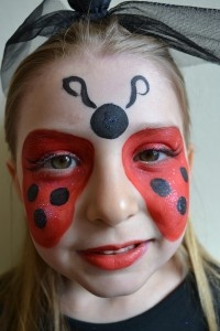 Lady bug face paint