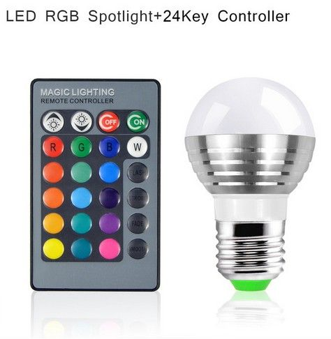 Lovely 16 Colors Changeable RGB LED Spotlight Bulb 220V With IR Remote Controller Holiday Lamp Decorative Night light 15% OFF #Affiliate