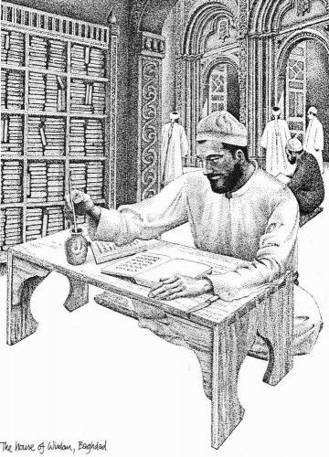 The House of wisdom Baghdad. At the House of Wisdom, scholars of many nationalities and religions translated into Arabic, Greek, Persian and Indian works on mathematics, logic, astronomy, philosophy and the exact sciences, and wrote commentaries on those texts as well as original works of their own.