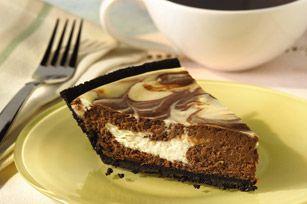 Chocolate Swirl Cheesecake recipe... worth the wait to eat. Rich, baked cheesecake.