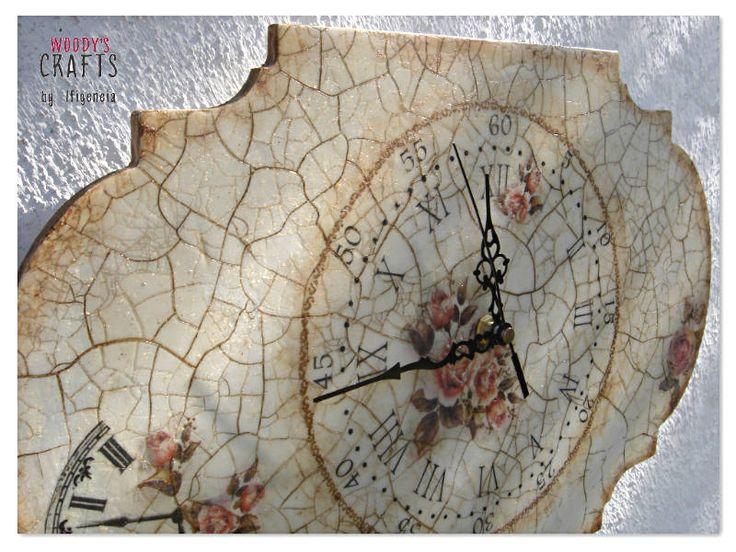 Χειροποίητο vintage ρολόι τοίχου   Ρολόγια Τοίχου   Διακοσμητικά Τοίχου    Woody's Crafts by Ifigeneia   Δες περισσότερα στη διεύθυνση:  http://j.mp/woodys-crafts-gallery-rologia-toixou