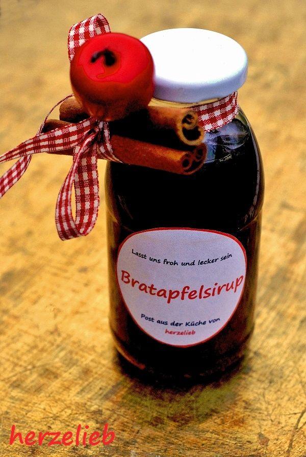 herzelieb: Bratapfelsirup - süßes Winterglück