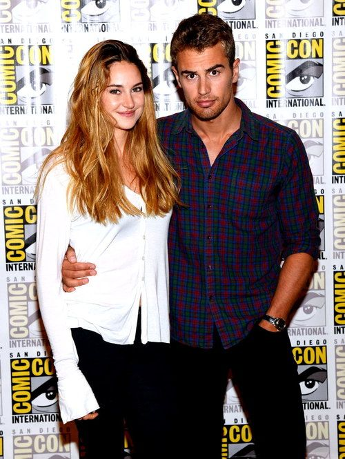 theo james and shailene woodley from divergent