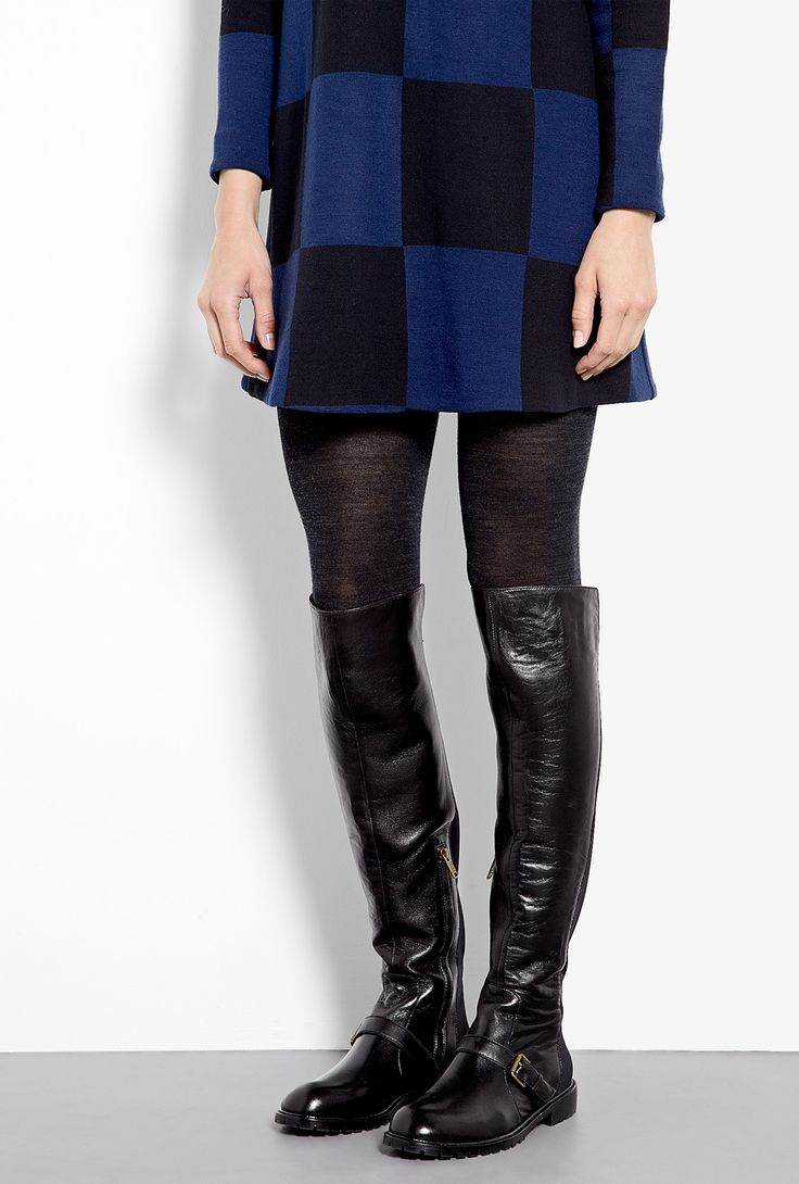 Contrast Flat Thigh High Boots by Marc by Marc Jacobs