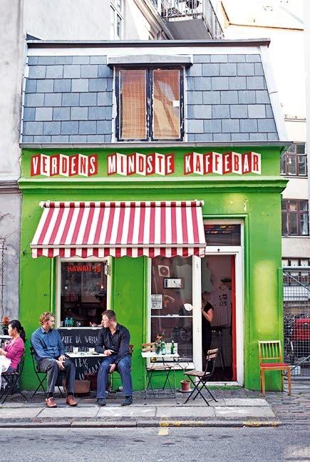 Verdens Mindste Kaffebar  - Copenhagen, Denmark.  ASPEN CREEK TRAVEL - karen@aspencreektravel.com