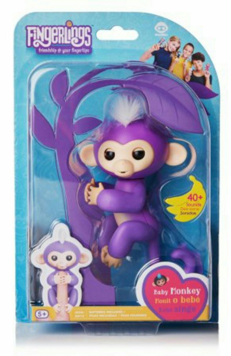 2017 05 freddy fazbear costume amazon - Fingerlings Interactive Baby Monkey Mia Purple With White Hair By Wowwee Walmart