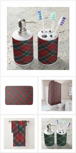 PROVINCIAL TARTANS OF CANADA BATHROOM SETS #provincialtartans #canadian province tartans