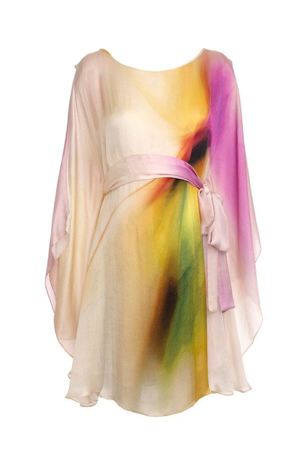 Gorgeous! Vanessa Knox Amandine Silk Print Maternity Party Dress
