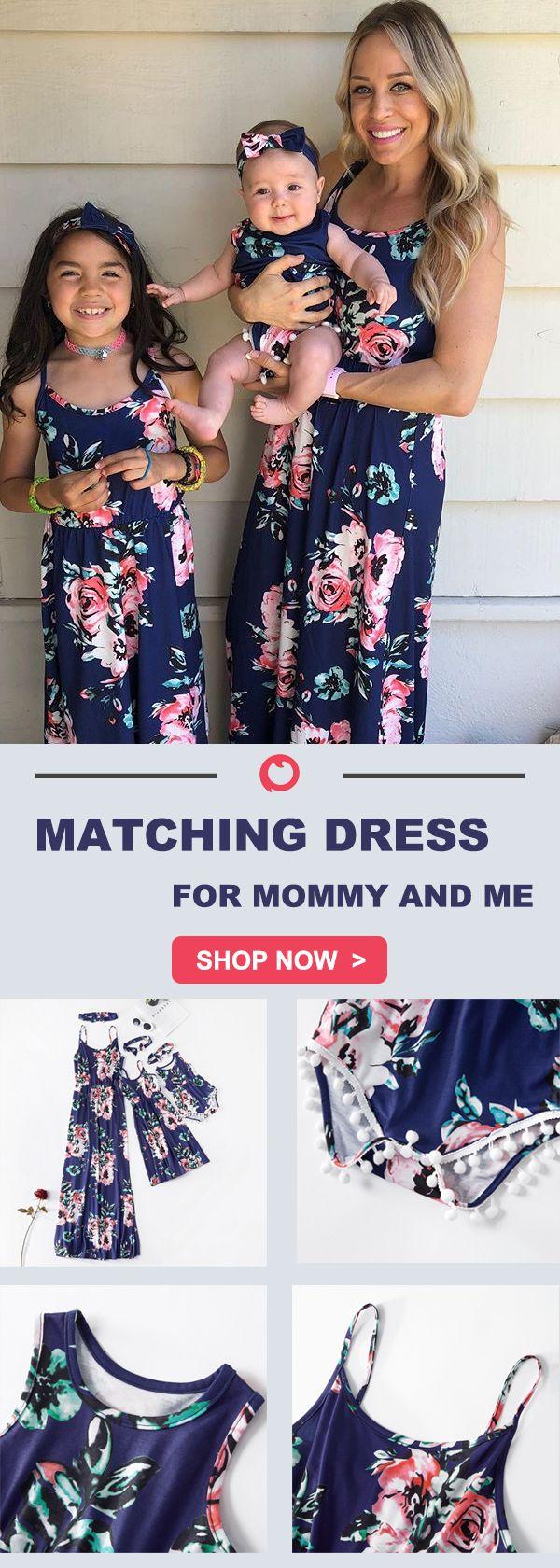 Dark Blue Printed Matching Dresses – Fotoideen