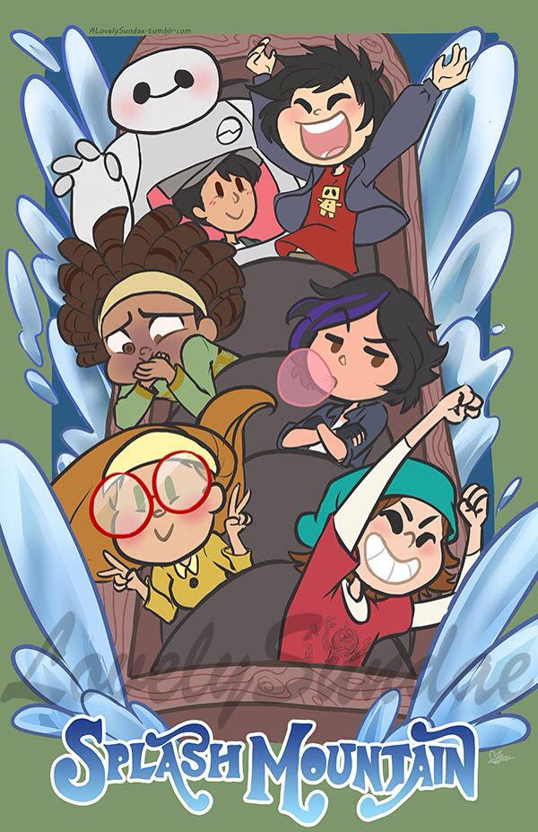 The gang on Splash mountain... I just. I just realized. Tadashi. WHEN YOU SEE IT