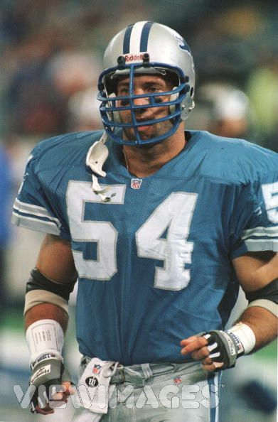 Chris Spielman - Detroit Lions - LB  My favorite Lion of all-time.  Met him once and he autographed a picture for me and stuck around to chat with my pops and I for a few minutes.  As humble and down to earth as they come and yet a total beast on the field.  He said that he used to convince himself before every play that the ball carrier had just kidnapped his little girl and he was going to hunt him down to stop him.  That's intensity.