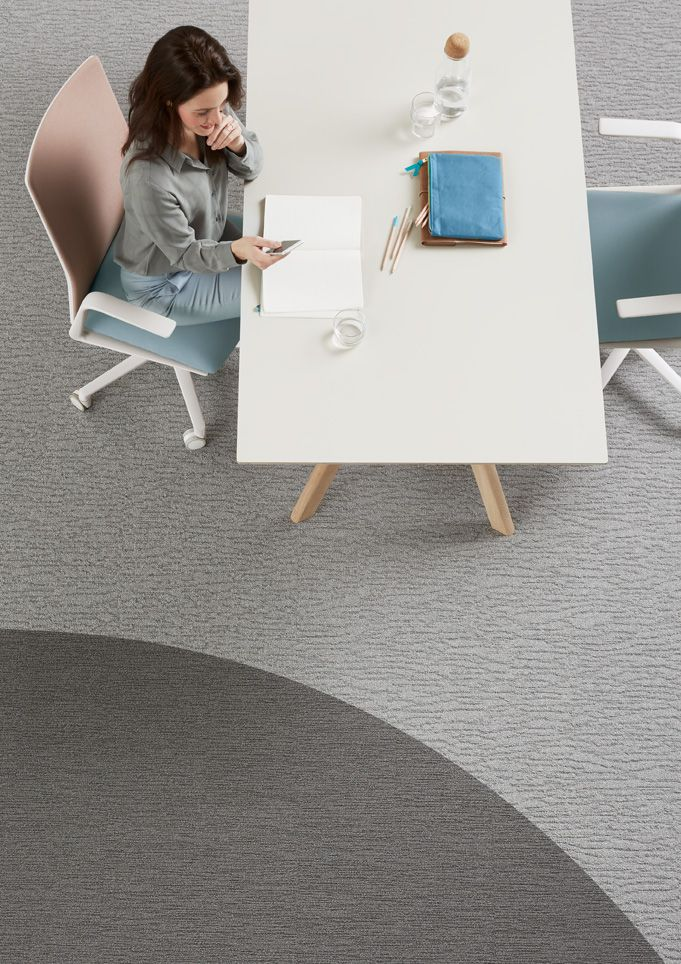 Carved provides a neutral and calming backdrop for workplace environments.