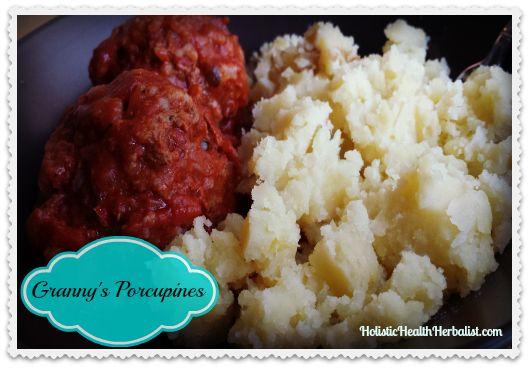 Granny's Porcupines Recipe - Learn how to make traditional porcupine meatballs.