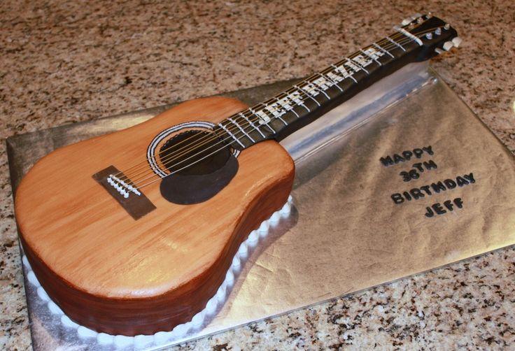 Acoustic Guitar Cake Template cakepins.com
