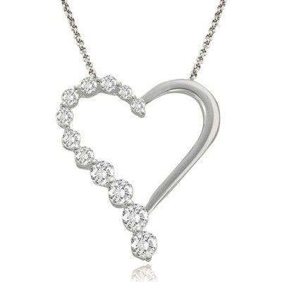 Visit Amcor Design Online Shop and buy white #diamond Heart #Pendants at $578.