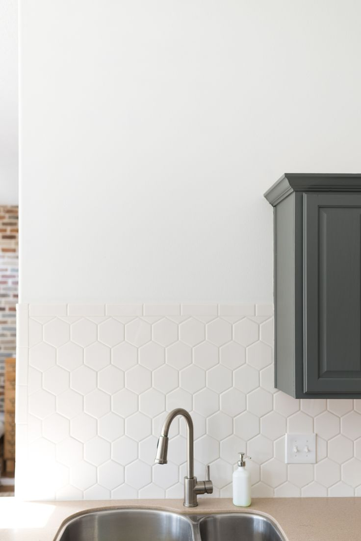 grout for tile white hexagon tile with white grout backsplash diy