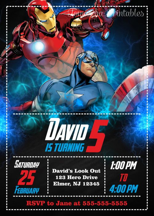 Captain America Invitation Iron Man Invitation Captain America and Iron Man Captain America Birthday Party Iron Man Birthday Party Captain America Printables Iron Man Printables Avengers Invitation Avengers Birthday Party Avengers Printables Avengers Party Supplies #captainamerica #ironman #avengers #birthdayinvitation #birthdayparty - Visit to grab an amazing super hero shirt now on sale!
