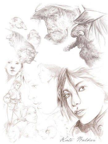 sketches of Kate Walker