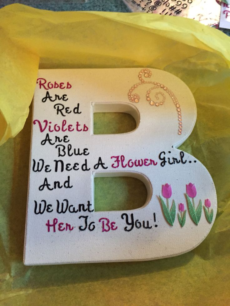 Asking your flower girl !