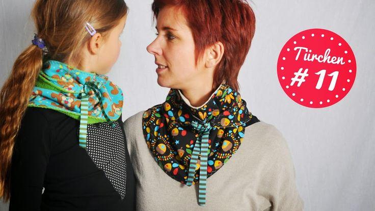 SCHLEIFENschal • Schal • Schnittmuster + Nähanleitung kostenlos • leni pepunkt • freebie • ebook • free sewing pattern •  bow scarf