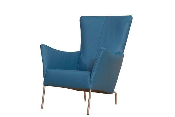 Lederen fauteuil Vlinder
