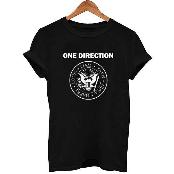 one direction ramones T Shirt Size S,M,L,XL,2XL,3XL