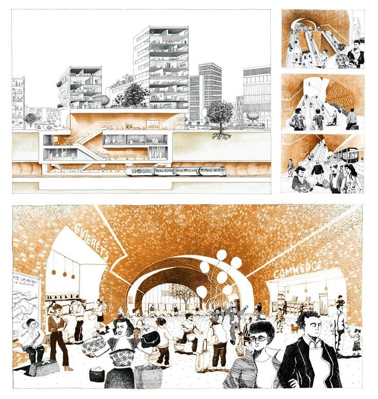 """"""" 6 routes"""" par l'agence Chartier Dalix architectes, Paris"""