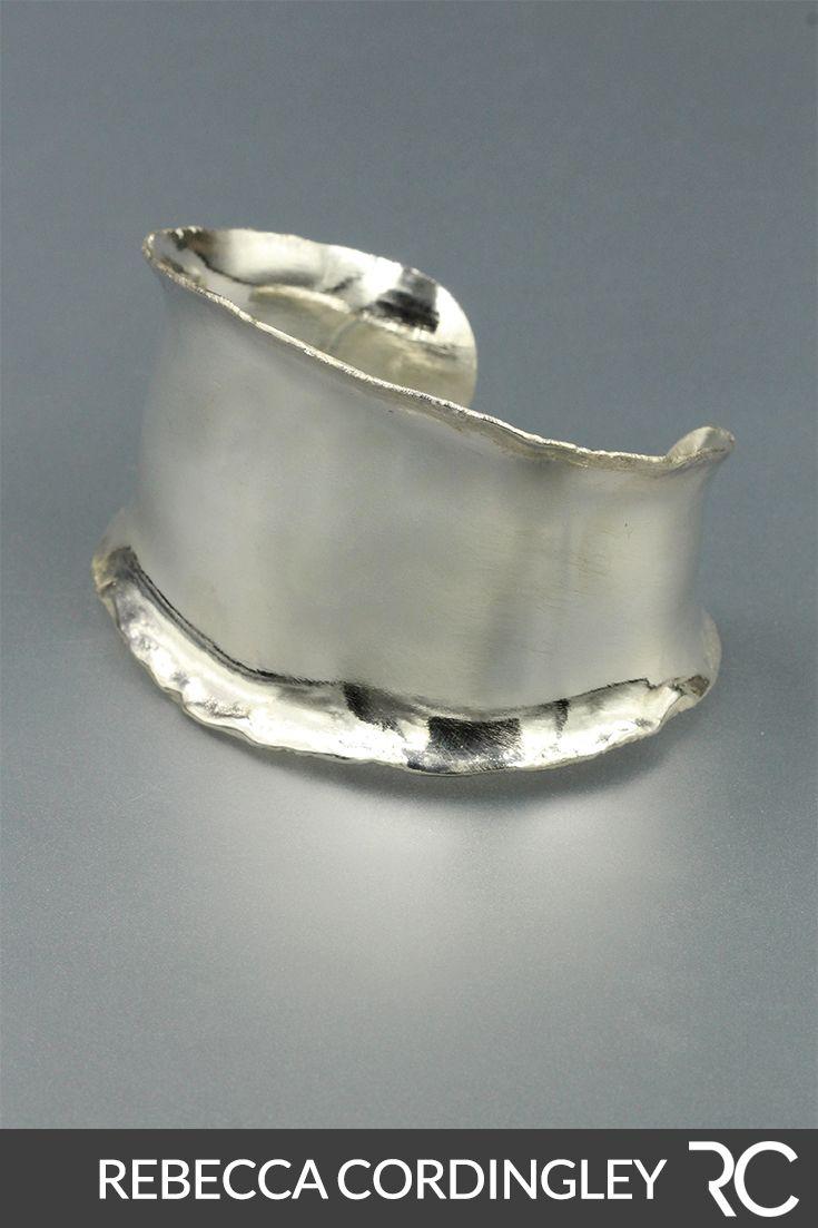 Bracelets Silver Cuff Unique, Artisan Jewelry Handmade, Cuff Bracelets Silver Bangles – Metal smithing