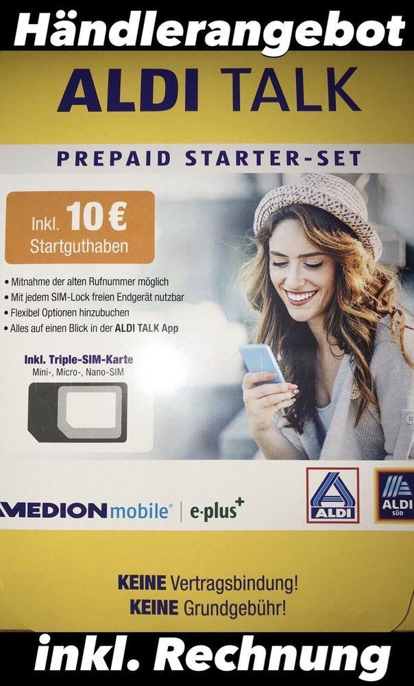 Nano Sim Karte Aldi.0178 30 X 30 30 Aldi Talk Prepaid Startpaket Neu Handynummer Nummer