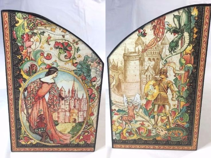 Enchanted Forest signature sheet, used on the sides of a Desk Organizer   Creator's Image Studio