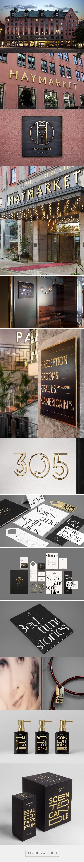 Haymarket Hotel Branding by 25AH