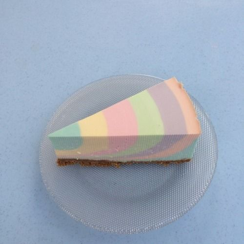 Pastel pie. Like the Seuss oh the places you'll go! A la Wayne thiebaud style