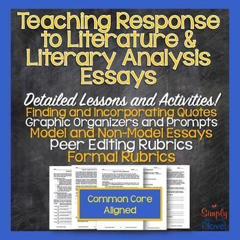 response to literature literary analysis literary response essay unit lessons - Response To Literature Essay Format