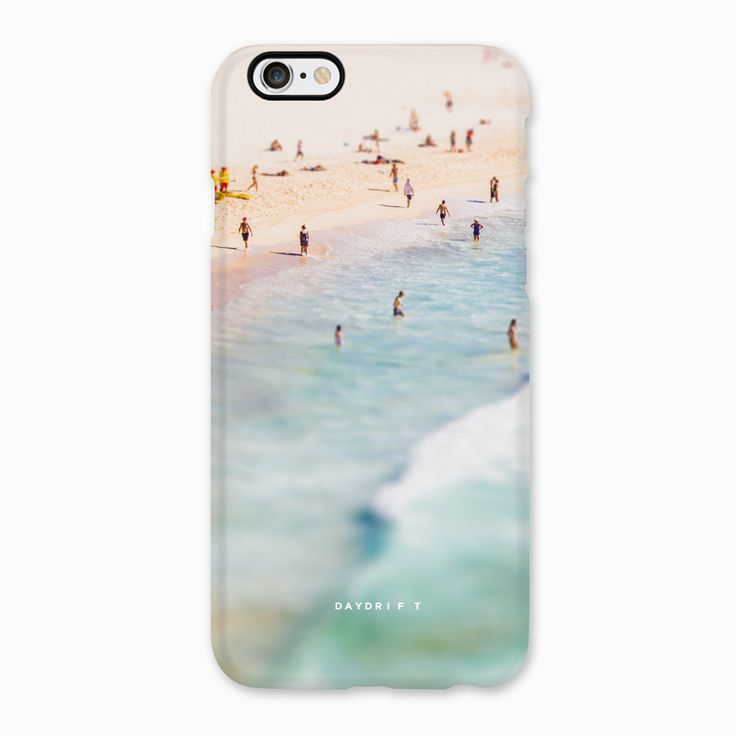 Limited edition luxury iPhone 5 and iPhone 6 Phone Cases featuring a Daydrift aerial photograph of Bondi Beach Sydney Australia