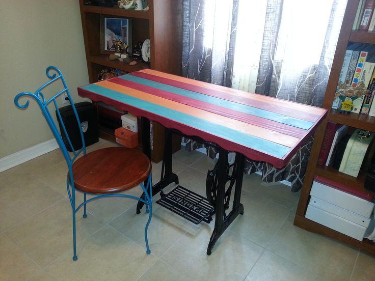 Singer stand desk $299