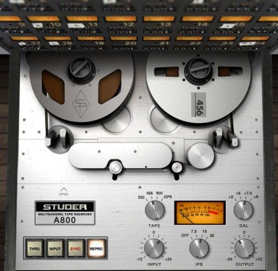 Um etwas analoges Feeling der 80er mit in den Track zu bringen, haben wir auf den Masterbus die Simulation der legendären Bandmaschine Studer A800 von Universal Audio gepackt.