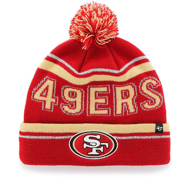 Officially Licensed NFL Ellie Knit Hat by 47 Brand - 49ers