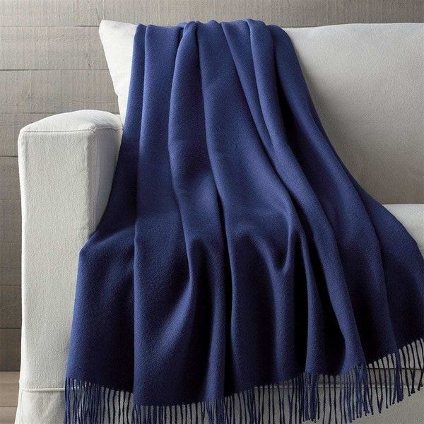 Crate & Barrel Lima Alpaca Indigo Blue Throw Blanket (2.376.045 IDR) ❤ liked on Polyvore featuring home, bed & bath, bedding, blankets, indigo bedding, alpaca throw blanket, crate and barrel throws, baby alpaca throw and fringe blanket