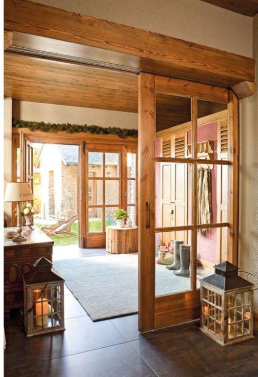 17 mejores ideas sobre puertas corredizas de madera en - Puerta corredera granero ...