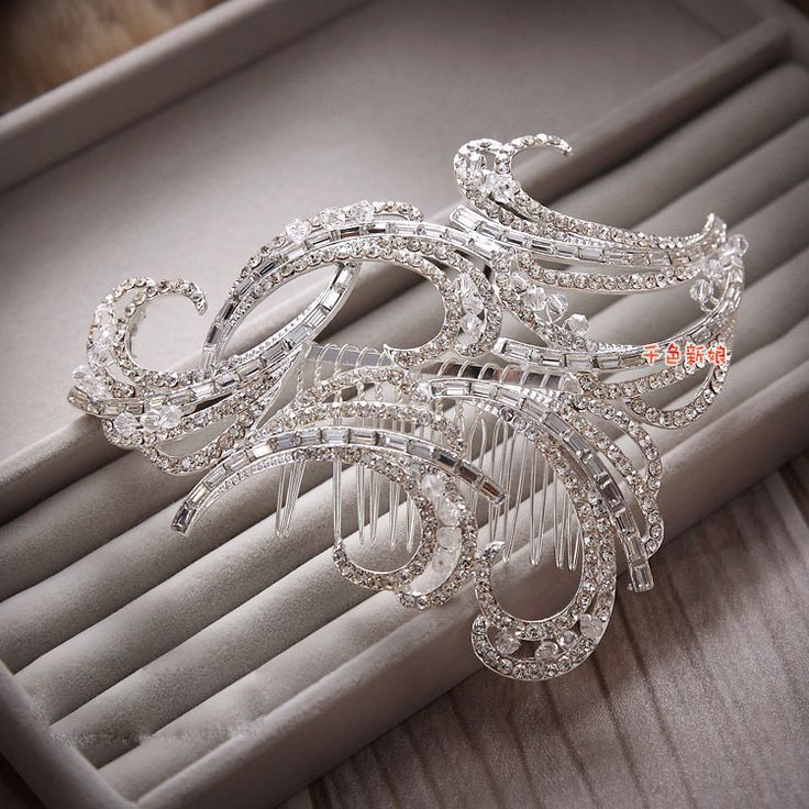 Fs078 Clips For Hair Sale Real Sterling Jewelry Acessorio Para Cabelo Vintage Bride Handmade Inlaid Rhinestone Comb Wedding
