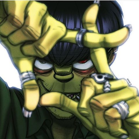 "Murdoc, the bass guitarist of the group. Being a satanist and just plain offensive,racist and abusive besides that he is a somewhat good guy. Liking Hitler ( liking nazis ) has bad hygiene problems and being very abusive to 2-D ( his reason being cuz ""he's 2-D."" ) He had an affair with 2-D's (ex) girlfriend and is apparently the face of Goillaz. He had started the band and dome many things to make the band go to the top. Being an alcoholic and just a weird guy he is also the ladies…"