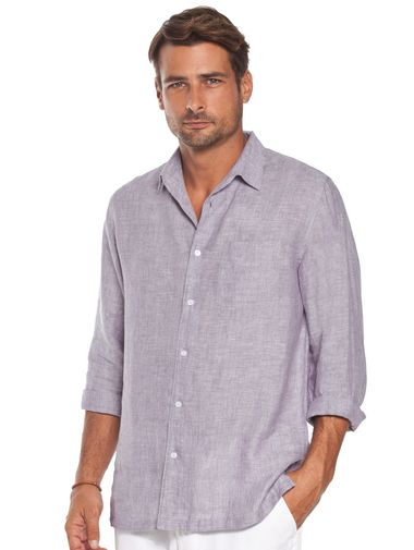 Acai Classic Linen Shirt For Men Beach Wedding