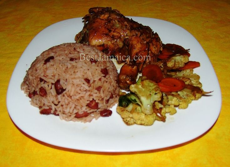 Jerk Chicken w/Jamaican Rice and Peas