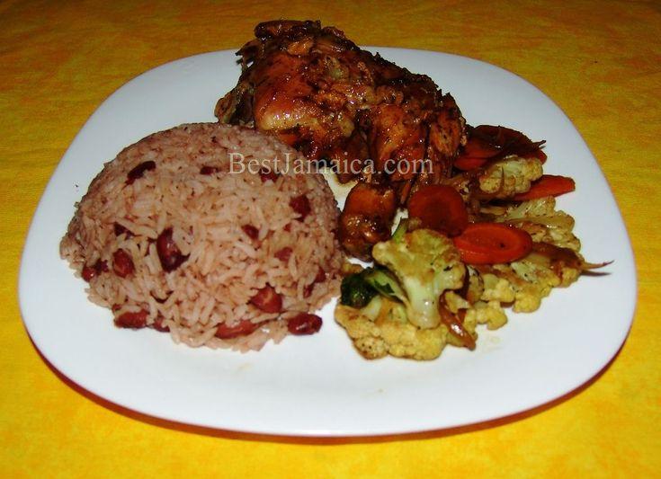 Jerk Chicken w/Jamaican Rice and Peas