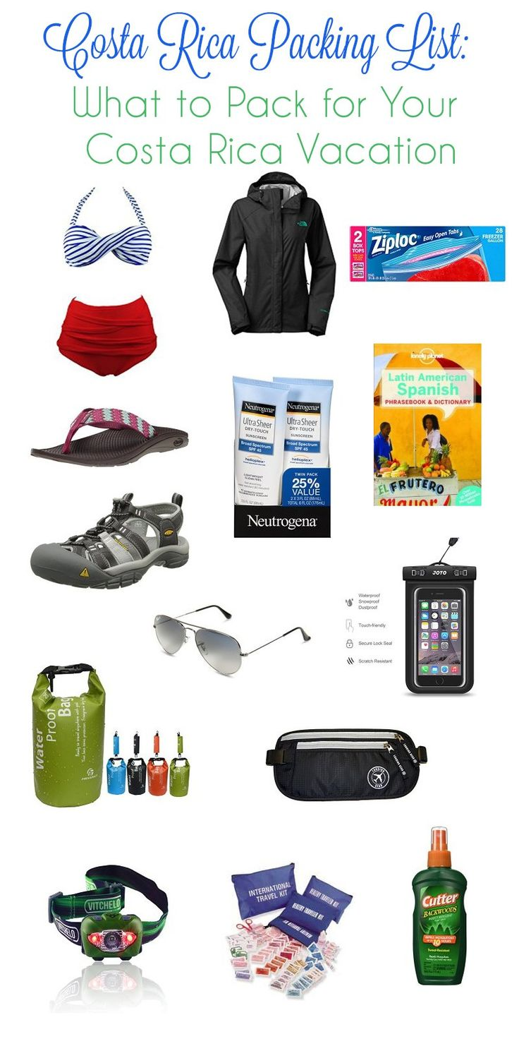 merlotmommy.com: Costa Rica Packing List -  What to Pack for Your Costa Rica Vacation